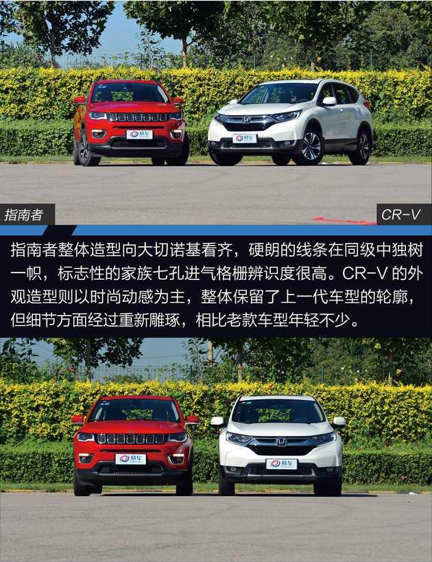 Jeep车型   新人王挑战换代老将 Jeep指南者对比本田全新CR-V